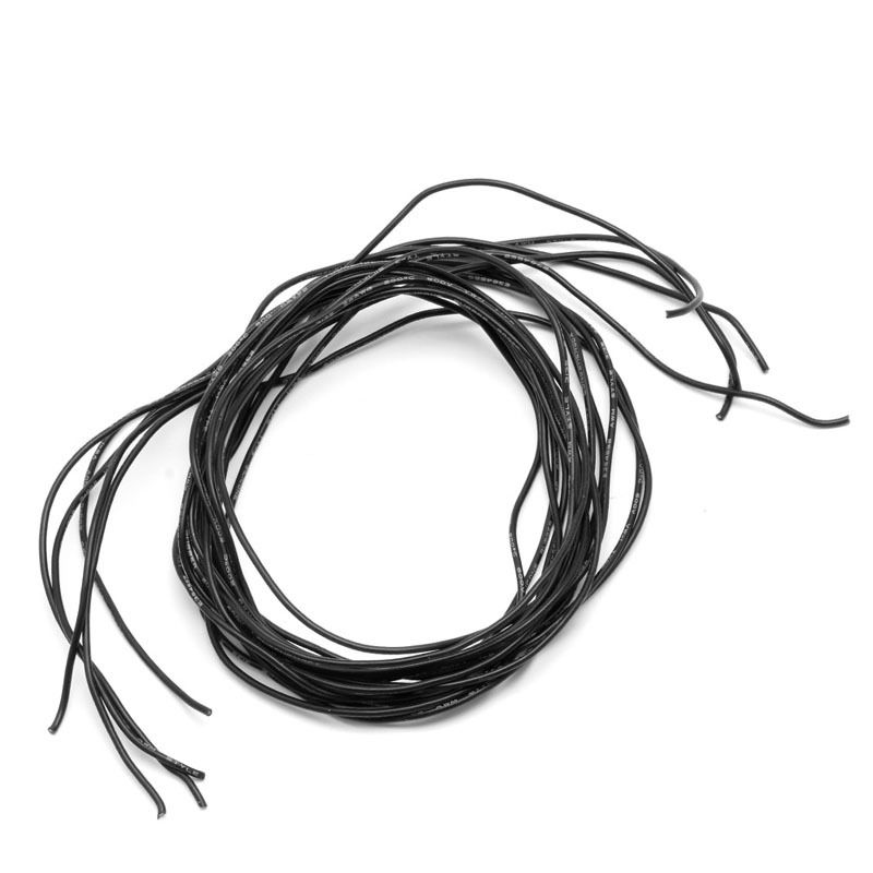 2M 24 Gauge AWG Silicone Wire Wiring Flexible Stranded Copper Cables ...