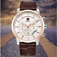 Reloj Hombre 2019 BENYAR Модные мужские наручные часы брендовые Роскошные бизнес хронограф спортивные Кварцевые водонепроницаемые часы Relogio Masculino