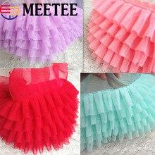 3D Lace Trim Net Mesh Ruffle Pleated Lace Fabric Bubble Skirt Doll Pet Dress Lace Ribbon DIY Sewing Accessories KY290 asymmetric ruffle trim ditsy skirt