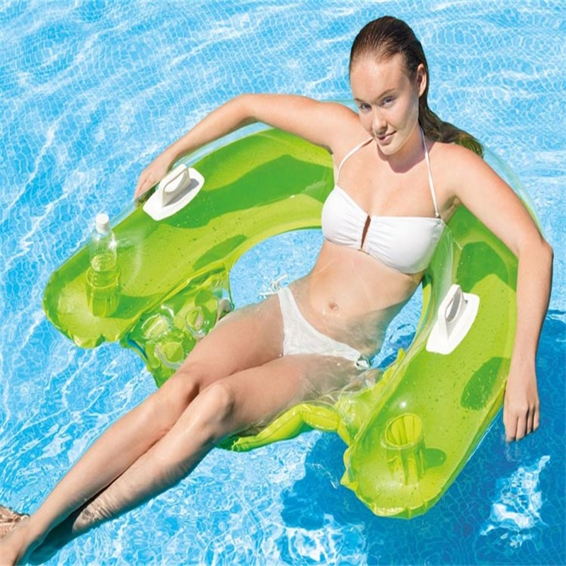99x152 СМ Надувной шезлонг Плавающей Кровать Плавающей Плавание надувные Матрасы Пляжные Игрушки воды