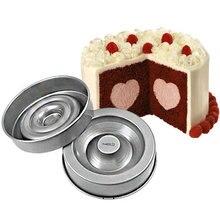 Set Of 2 Non-Stick Heart Tasty-Fill Cake Pan Sugarcraft Decorating Mold Tools Baking Tin