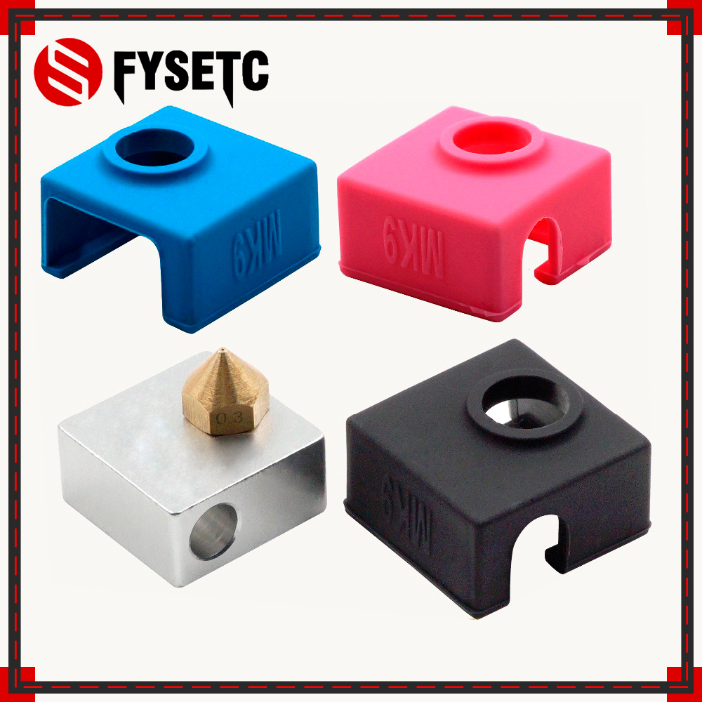 1PC MK7/ MK8/MK9 Silicone Socks Blue/ Pink /Black Insulation For Ender Creality CR-10 Anet SILICONE HEATER BLOCK COVER