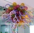 Изготовленная на заказ световая муранская стеклянная Янтарная стеклянная люстра
