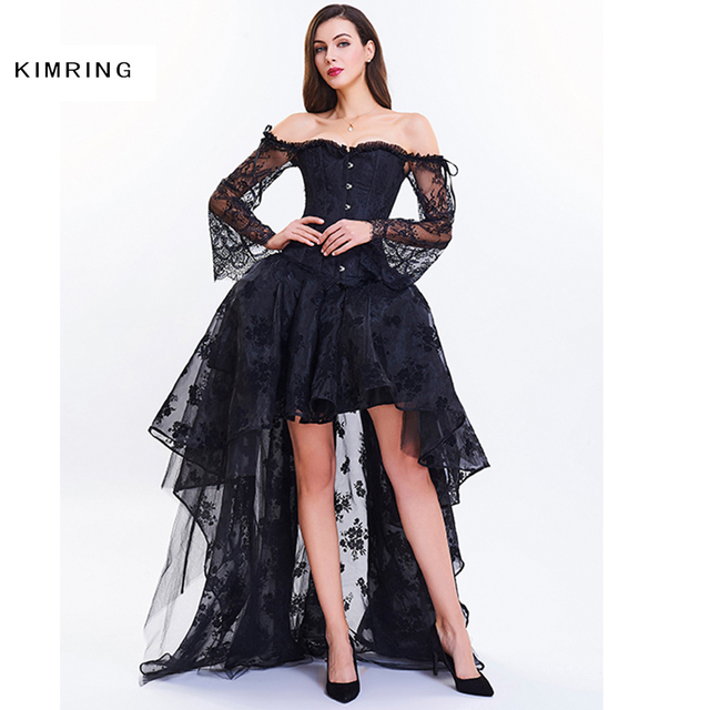 Aliexpress.com : Buy Kimring Burlesque Steampunk Corset Dress for ...