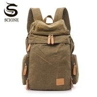 Top Quality Casual Men's Backpack Fashion Canvas Students School Shoulder Bag Laptop Rucksack Large Travel Backpacks korean