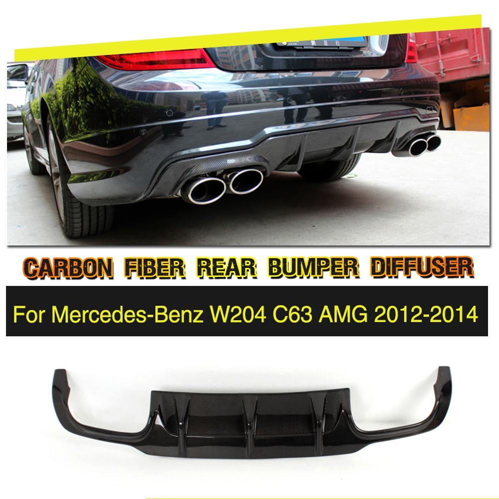 Углеродного волокна/frp зад бампер спойлер для Mercedes-Benz C-Class W204 C63 AMG седан купе 2012