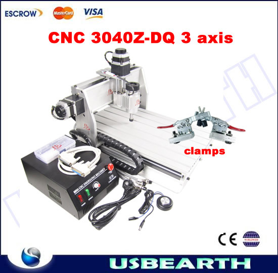 Mini CNC Router 3040Z-DQ , ball screw cnc milling machine for woodworking