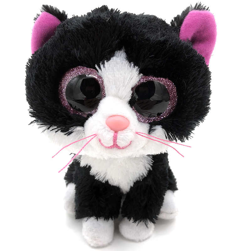 d77bd4986af 15cm Stuffed Doll Kitty Cats Ty Beanie Boos Hot beanie boo Animal Soft  Lovely Plush Toy