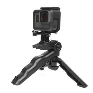 Image 5 - לירות מיני נייד חצובה Stand עבור GoPro גיבור 9 8 7 5 שחור 4 מושב Xiaomi יי 4K Sjcam eken Canon Nikon Sony DSLR אבזר
