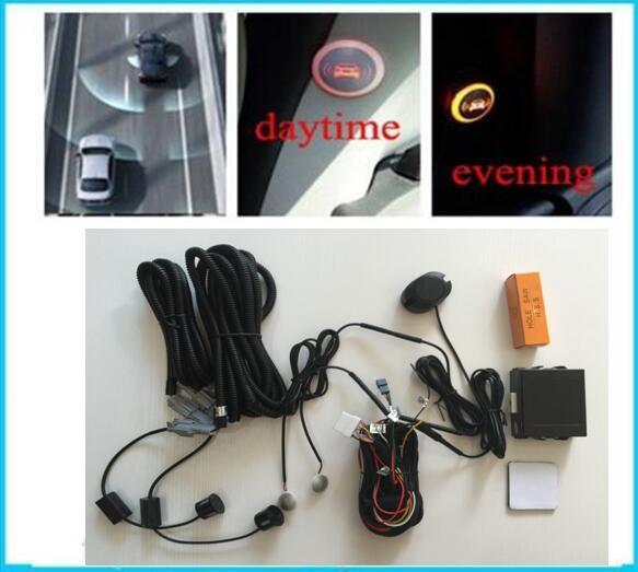 Système d'aide aux capteurs de stationnement arrière pour angle mort de voiture pour Kit de sauvegarde de Radar automatique 2 capteurs de recul 2 indicateur LED 1 avertisseur sonore
