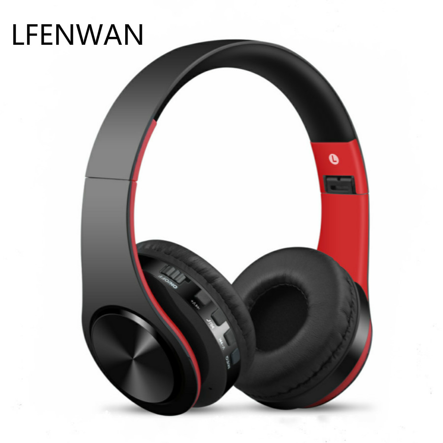 Wireless Headset Computer Tablet Supports Tf-Card Folding Heavy-Bass Mobile title=