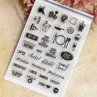 Transparent Seal Scrapbook DIY Photo Album Chapters Rubber Product Stamp Card Hand Account T 0230