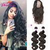 8A Pre Plucked 360 Lace Frontal With Bundle with Baby Hair Brazilian Body Wave 360 Lace Virgin Hair Frontal Closure With Bundles
