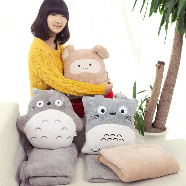 2017 Fast Shipping Rabbit Totoro Pillow Hand Warmer Is Cushion Hot Water Bottle Cover Day Gift Valentine Present