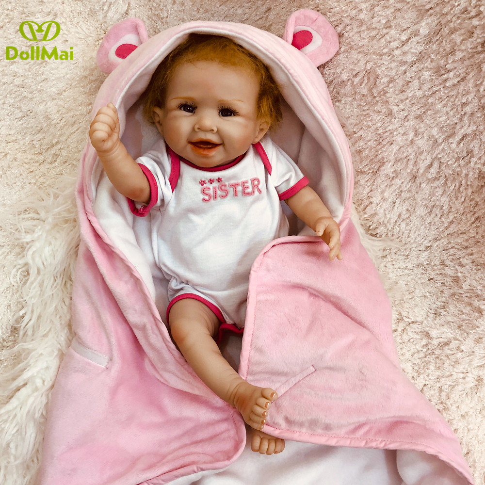 50cm Full Silicone Body Reborn Baby Doll Toy For Girl Vinyl Newborn Princess Babies Alive Bebe Boneca reborn Bathe Toy gifts50cm Full Silicone Body Reborn Baby Doll Toy For Girl Vinyl Newborn Princess Babies Alive Bebe Boneca reborn Bathe Toy gifts