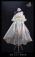 2018 Новый LoveLive! Аркады поздравительную открытку Созвездие Eli Ayase платье белые нарядные Маскарадный костюм платья полные комплекты