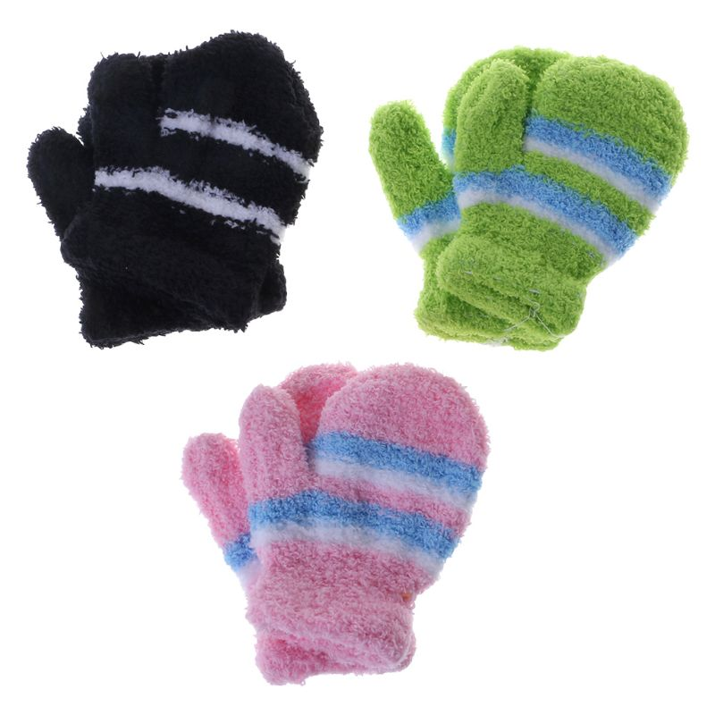 Unisex Warm Winter Thick Gloves Finger Full Warmer Children Mittens Kid Gloves