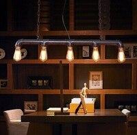 5, Ретро Лофт Стиль водопровод Винтаж промышленного подвесной светильник, цепи кулон для столовой кофе зал Бар, лампа в комплекте