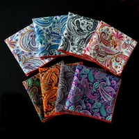 8 Pack 10 Man Quality Cotton Paisley Hanky Pocket Square Handkerchief Wholesale WHSYX0002