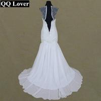 QQ Lover 2017 Luxury Pearls Beaded Mermaid Wedding Dress Custom Made Plus Size Vestido De Noiva