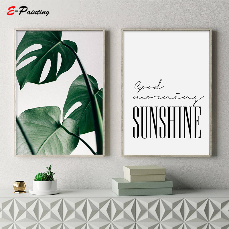 Good Morning Sunshine Bedroom Print Home Poster Affiche Scandinavian Calligraphy Printable Wall Art Canvas Painting
