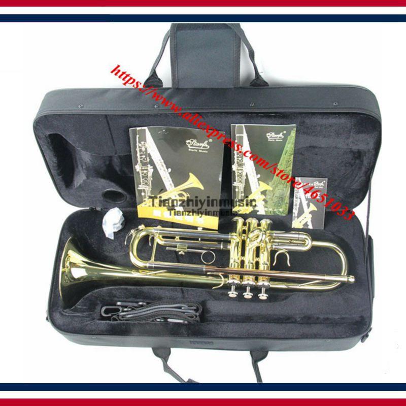 Qualité professionnelle jouant le tube de sifflet en bronze phosphore chute B groupe d'étudiants trompette en or