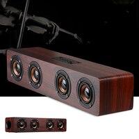XGODY W8 Soundbar Wooden Speaker HIFI Stereo Subwoofer Music Center Speakers Caixa De Som Port til Bluetooth for TV PC Phone