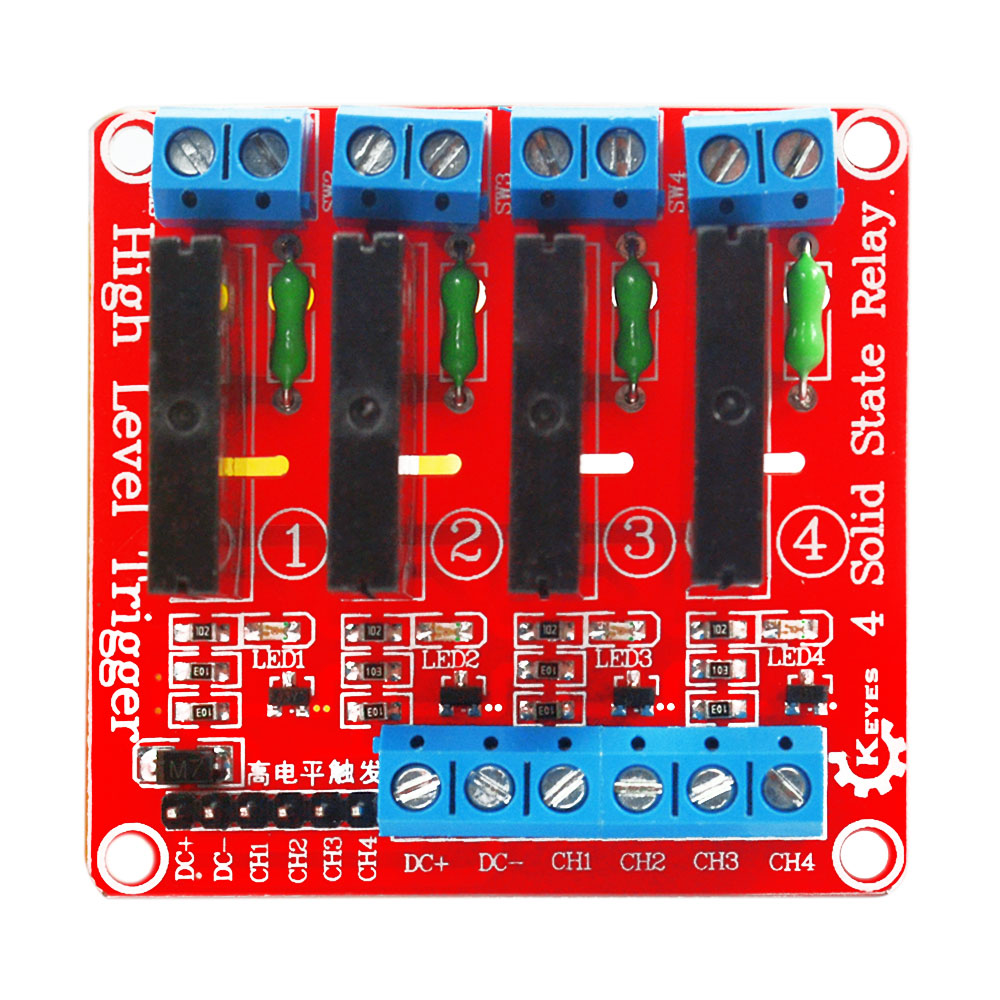 Keyes 4 Contact Solid State Relayred For Arduino In Home Relay Wiring Dc Shield Automation Modules From Consumer Electronics On Alibaba Group