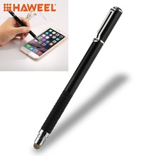 HAWEEL Capacitive Touch Screen Stylus Pen Universal 2 in 1 Multifunction Round Thin Tip For Smartphones or Tablet PC цена