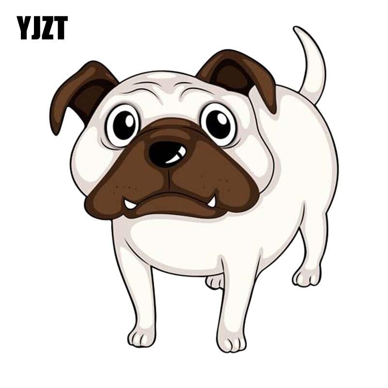 YJZT 14 см * 15,8 см интересная мультяшная собака Автомобильная наклейка из ПВХ наклейка моделирование 12-300360