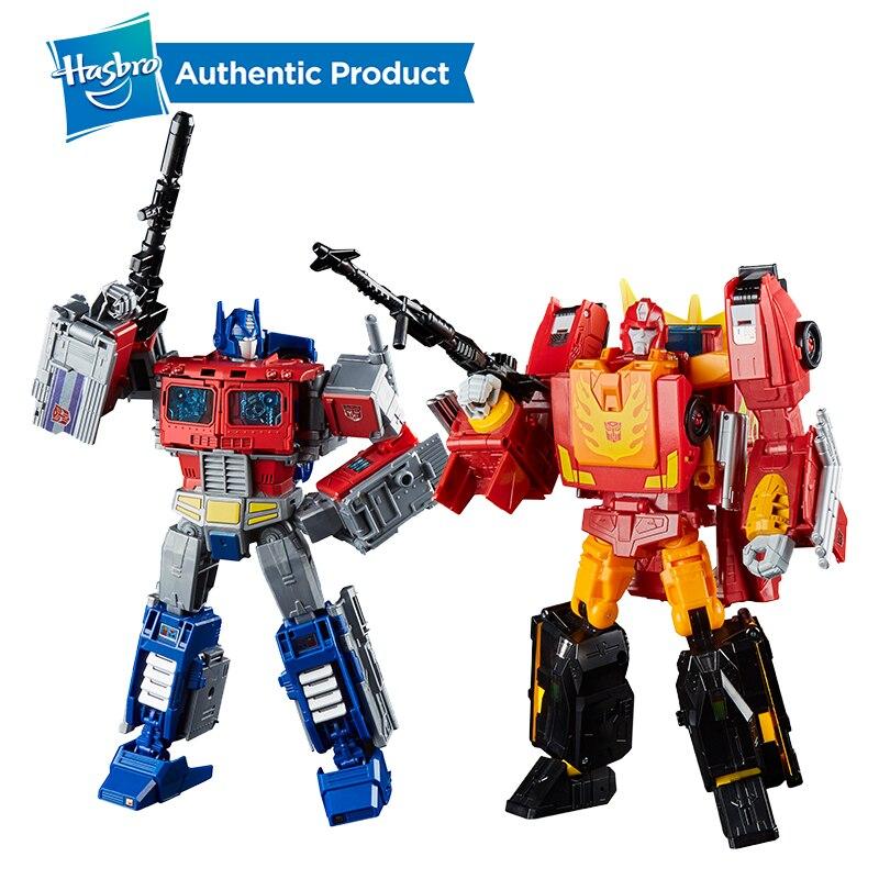 Transformateurs Hasbro puissance de la série Primes Leader Ast 8.75 pouces Optimus Prime et 9.75 pouces Rodimus Prime Rodimus Unicronus