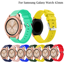 20MM Silicone Strap For Samsung Galaxy Watch active 2 40 44mm Sport Gear sport S2  Huami Amazfit GTS band