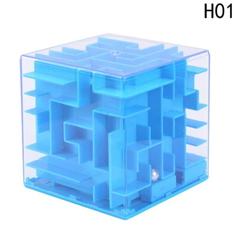 3D Копилка Cube лабиринт игрушки, игры-Головоломки Логические лабиринт Rolling мяч игрушки для детей Рождественский подарок