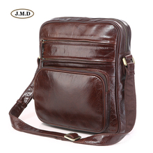 J.M.D New Arrivals Genuine Leather Men's Unique Design Brown Business Shoulder Bag Crossbody Messenger Bag Portable Bag 7337C цена 2017