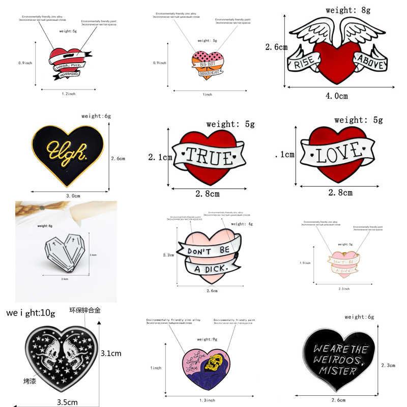 2019 Bentuk Hati Koleksi Bros Lencana Kreatif Enamel Beberapa Hadiah Cinta Koboi Kerah Pin Bros Perhiasan untuk Wanita Aksesoris
