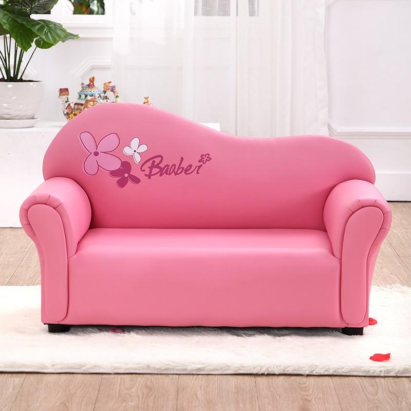 Children's Sofa Cute Children's Furniture Kindergarten Baby's Small Sofa Chair Double Kids Sofa Furniture Pink Blue