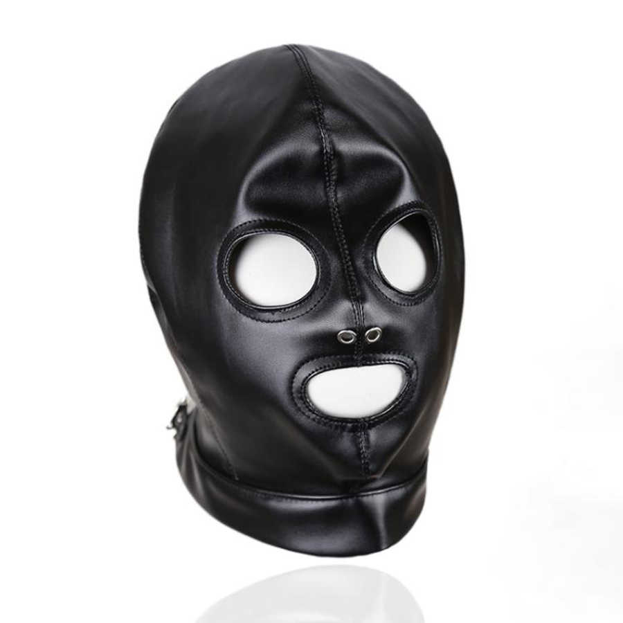 Detail Feedback Questions about Leather Bondage Hood Mask
