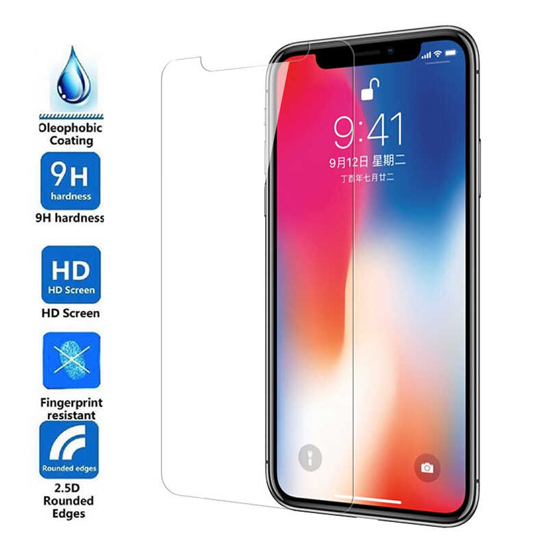 For iPhone XS Max Tempered Glass & Soft Explosion-proof Nano& PET High Clear Screen Protector Film Guard