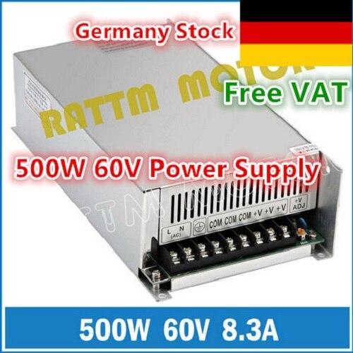[Livraison EU] 500W 60V DC interrupteur alimentation! Le moulin moussant de sortie simple de la puissance 60V a coupé le Plasma 8.3A de graveur de Laser