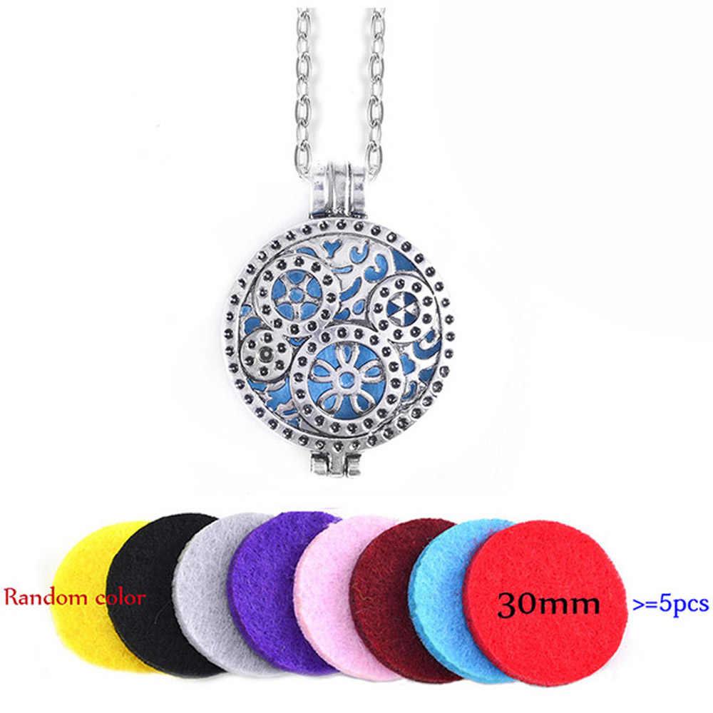 70cm Antike Getriebe Uhr Anhänger Halskette Parfüm Aroma Halskette Ätherisches Öl Diffusor Halskette Foto Medaillon Halskette