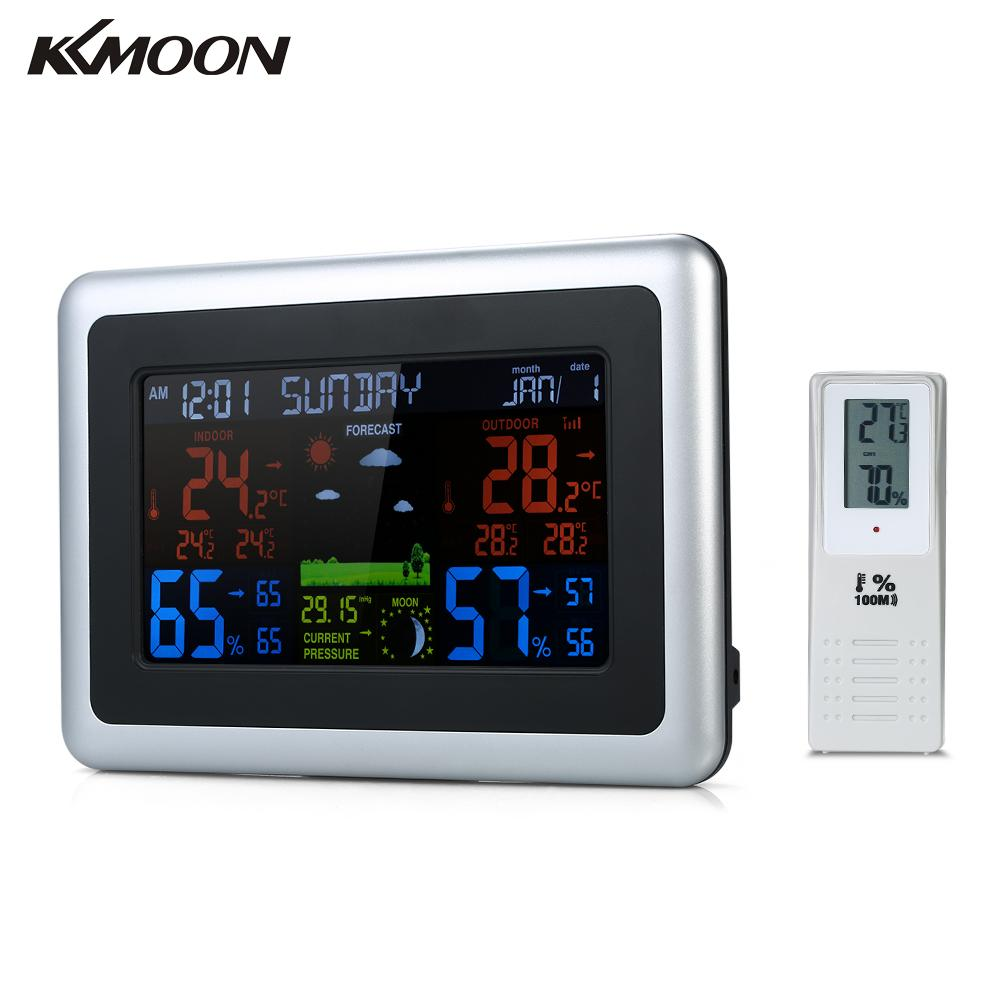 Wireless Thermometer Hygrometer Weather Station Forecast LCD Backlight temperature humidity meter Alarm Clock Calendar Function