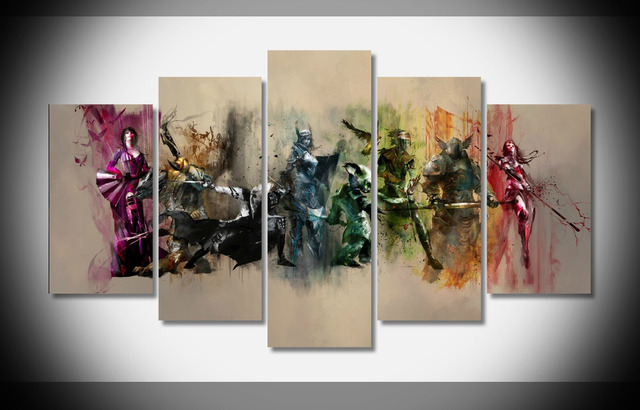 4825 guild wars 2 poster framed gallery wrap art print home wall decor wall picture already