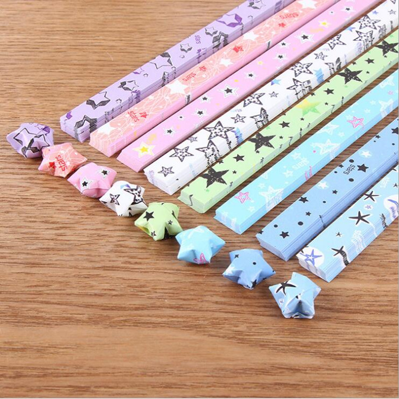 400pcs Cute Luminous Quilling Handcraft Origami Lucky Star Paper DIY Strip Folding Golw In The Dark For Home Wedding Party Decor