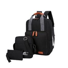 Brand 3Pcs / set Women Men unisex Backpacks School Bags For Teenagers Fashion casual Ladies Shoulder