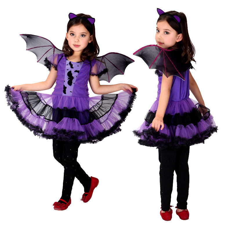 Halloween Fancy Masquerade Party Batman Bat Girl Costume Children Cosplay Dance Dress Costumes ...