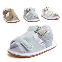 2017 Cool Summer PU Baby First Walkers Shoes Hard Sole Infants Boys Crib Shoes