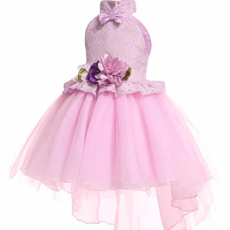326a2d3d3 ... Vestido de princesa de seda bordado de niña para fiesta de boda  vestidos para niñas pequeñas