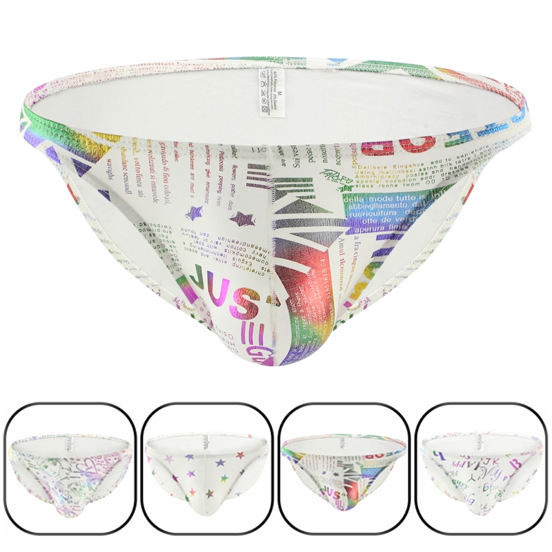 ddcc75864 New printing gay underwear cotton breathable briefs low waist sexy briefs  mens thongs and g strings jockstrap