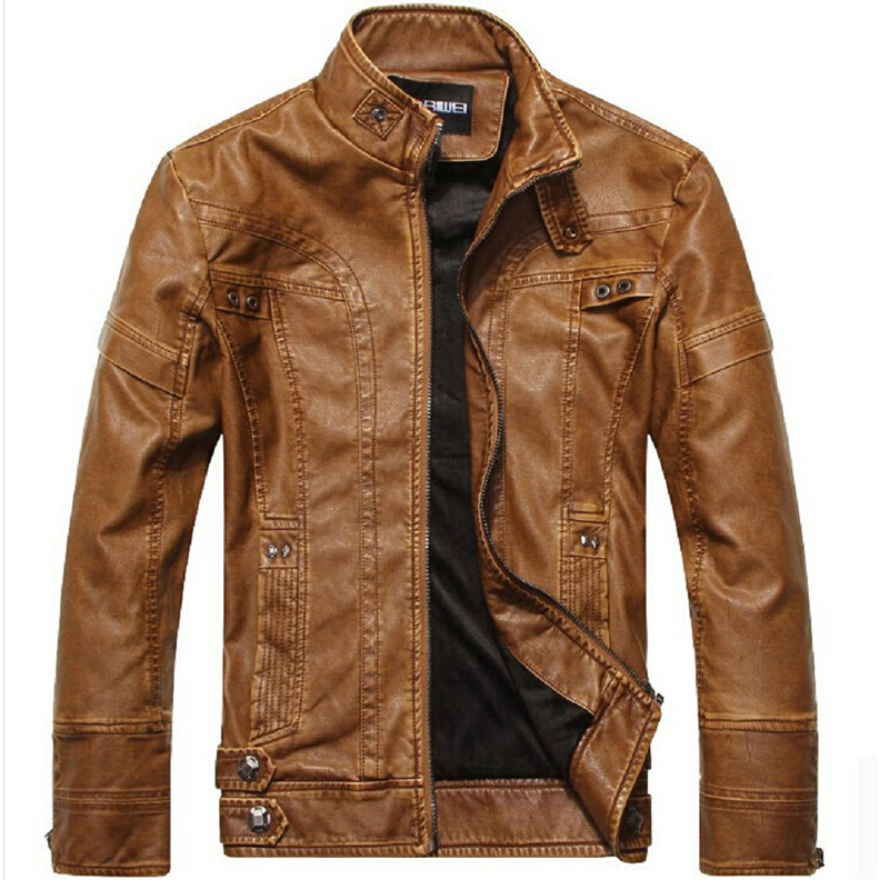 HAMPSON LANQE Motorcycle Leather Jackets Men Autumn Winter Leather Clothing Men Leather Jackets Male Business casual Coats