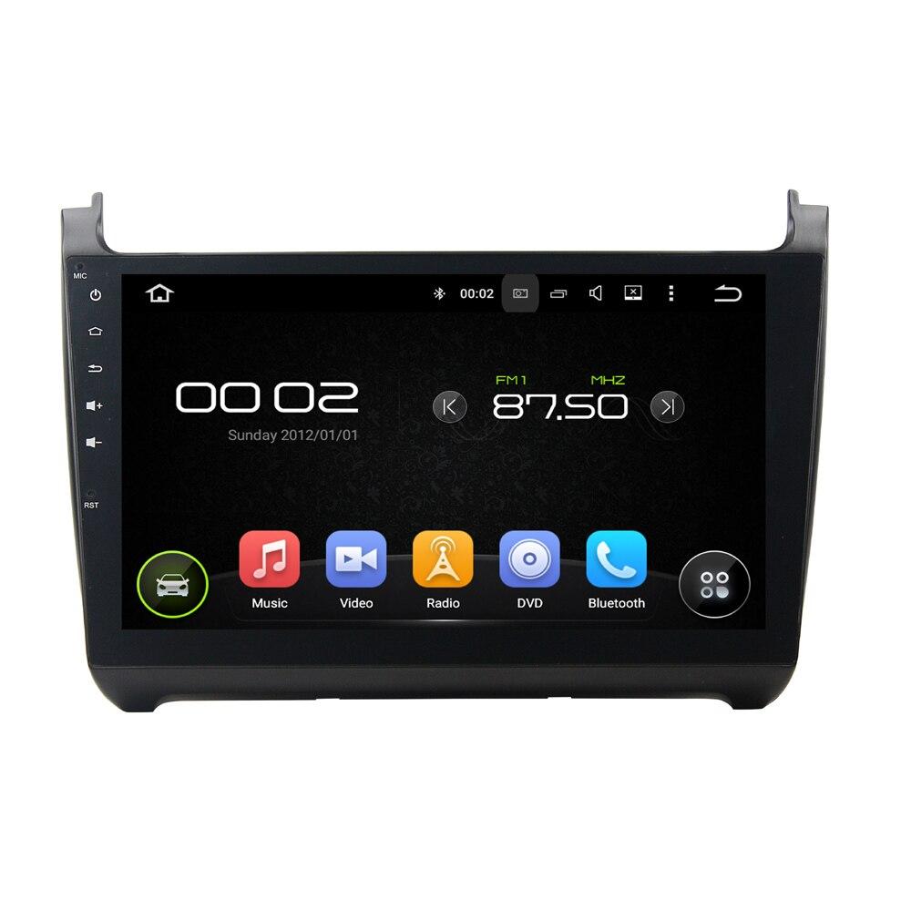 10.1 дюймов Экран Android 6.0 dvd-плеер автомобиля GPS навигации Системы Авто Радио стерео Media Audio для Volkswagen VW мужские Поло 2015
